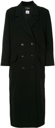 Chanel Pre Owned 1998 Double-Breasted Long Sleeve Coat