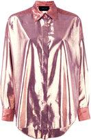 Michel Klein high-shine shirt