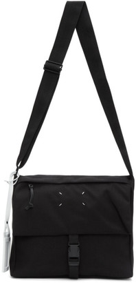 Maison Margiela Black 4-Stitches Flap Crossbody Bag