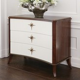 The Well Appointed House Klismos Three Drawer Cabinet - Walnut with Ivory Doors