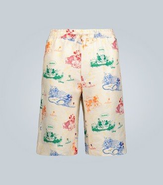 Gucci Disney x linen shorts