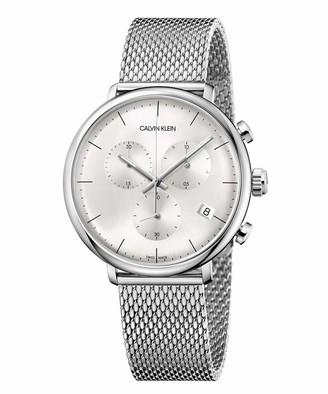 Calvin Klein Unisex Adult Chronograph Quartz Watch with Stainless Steel Strap K8M27126