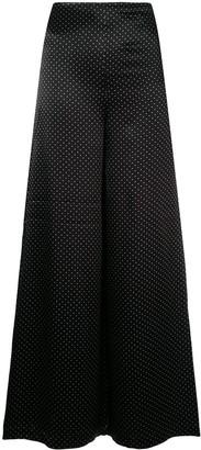Ganni Micro Dot Wide Leg Trousers