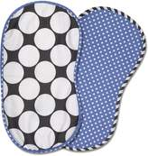 Bacati 2-Piece Dots/Pin Stripes Dots Burpies Set