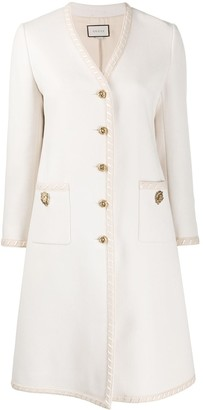 Gucci Single-Breasted Embellished Coat