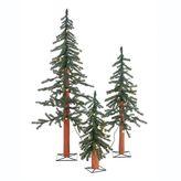 Sterling 3-piece Pre-Lit Artificial Alpine Christmas Tree Set