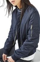 Topshop Women's Leopard Lined Bomber Jacket