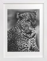 Minted Furry Leopard Art Print
