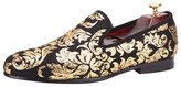 OCHENTA New High-end Gold printing Men Shoes Luxury Fashion Men Loafers Men's Flats Size Black US 12-12.5