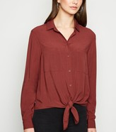 New Look Tie Front Long Sleeve Shirt