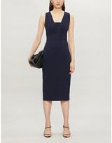 Ted Baker Sleeveless stretch-woven midi dress