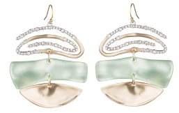 Alexis Bittar Pavé Spiral Drop Earrings