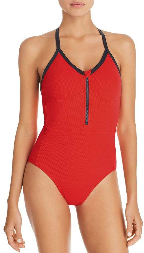 a01ad4a840 One Piece Zip Front Swimwear - ShopStyle
