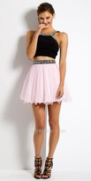 Camille La Vie Beaded Two Piece Homecoming Dress