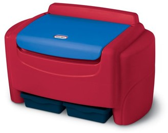 Little Tikes Sort 'n Store Toy Storage Chest, Red and Blue