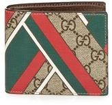 Gucci Gg Supreme Chevron-print Wallet