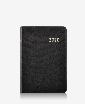 GiGi New York 2020 Daily Journal, Black Goatskin Leather