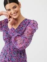 Very Printed Puff Sleeve Dress - Print