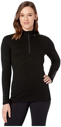 Helly Hansen Lifa Merino 1/2 Zip (Black) Women's Clothing