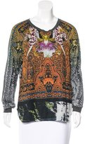 Clover Canyon Mixed Print Rib Knit Sweater