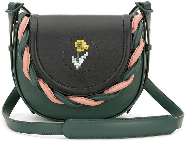 Marco De Vincenzo embroided flower crossbody bag