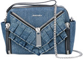 Diesel ruffled trim shoulder bag - women - Cotton - One Size