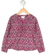 Jacadi Girls' Floral Long Sleeve Top