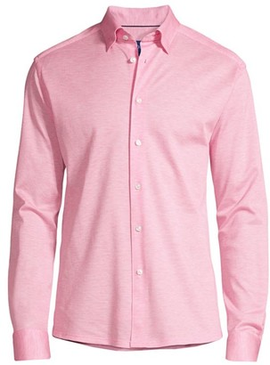 Eton Soft Casual Slim-Fit Pique Cotton Sport Shirt