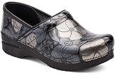 Dansko Professional Floral Printed Metallic Leather Slip-On Clogs