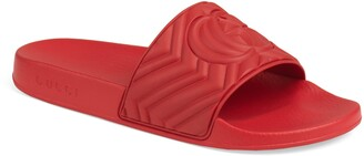 Gucci Matelasse Slide Sandal