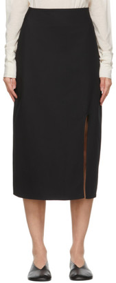 Studio Nicholson Black Split Skirt