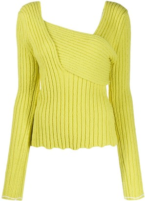 Bottega Veneta Interwoven Ribbed Jumper