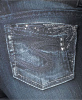 Silver Jeans Juniors' Jeans, Suki Slim Bootcut, Dark Wash