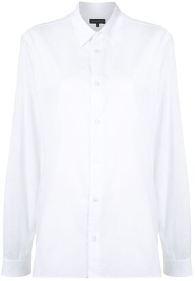 Ann Demeulemeester Point Collar Poplin Shirt