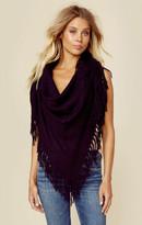 Minnie Rose cashmere fringe shawl