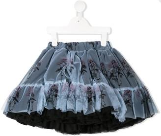 Caroline Bosmans Floral Printed Tutu Skirt