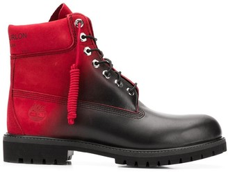 Marcelo Burlon County of Milan x Timberland colour contrast lace-up boots