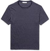 Sandro - Striped Linen-jersey T-shirt