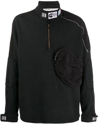 Off-White Parachute Half-Zipped Sweatshirt