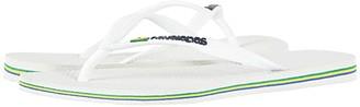 Havaianas Slim Brazil Flip-Flops (White) Women's Sandals