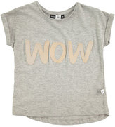 Molo Rachelle Heathered Wow Jersey Tee, Gray, Size 3-14