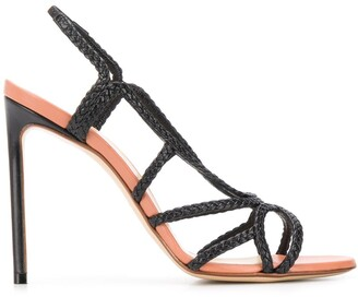 Francesco Russo Braided 115mm Sandals