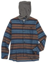 Billabong Boy's Baja Hooded Flannel Shirt