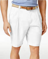Club Room Men's Double-Pleated Cotton Shorts, Only at Macy's