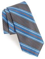 Nordstrom Men's Big & Tall Textured Stripes Silk Tie