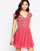 Maya Skater Dress With Embellished Detail