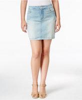 NYDJ Emily Mykonos Wash Denim Skirt