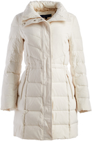 Cole Haan Ivory Faux Fur Puffer Coat