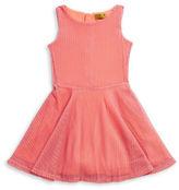 Nicole Miller Girls 7-16 Mesh Knit Dress