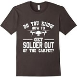 Men's Solder Out Of The Carpet Funny Drone Quadcopter T-Shirt Large